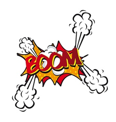 Comic explosion vector