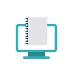 Computer desktop monitor with seo icon vector
