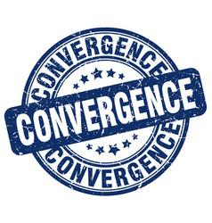 Convergence blue grunge stamp vector