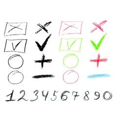 Crayon doodles3 vector