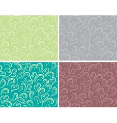 Curly seamless background vector image vector image