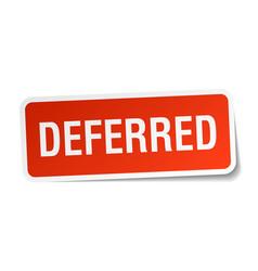 Deferred square sticker on white vector