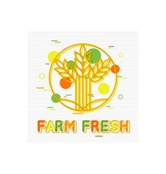 Farm Fresh Concept Farm Fresh Background Farm vector image vector image