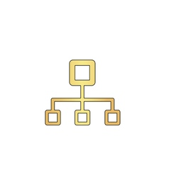 Flow chart computer symbol vector