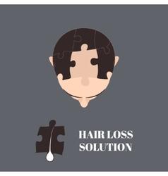 Hair loss solution vector