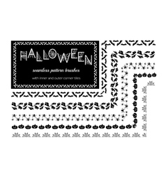 Halloween pattern brushes vector image