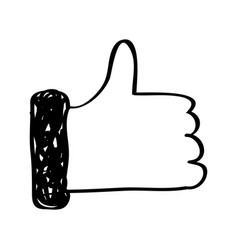 Hand human like symbol vector