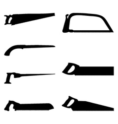 Hand saws vector