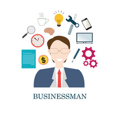 happy smiling businessman vector image vector image