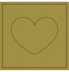 Heart on weave vector