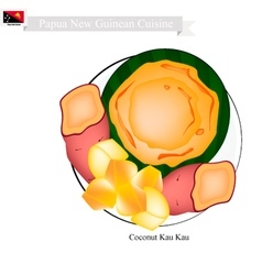 Kau Kau or Papua New Guinean Baked Sweet Potato vector image vector image