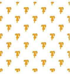 Letter t from honey pattern vector