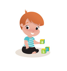 little child boy vector image vector image