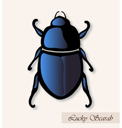 Lucky scarab vector