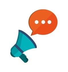Megaphone and conversation bubble icon vector