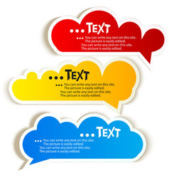 Paper speech bubble vector