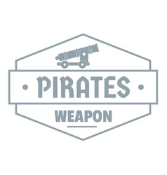 pirate cannon logo simple gray style vector image