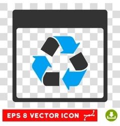 Recycle calendar page eps icon vector