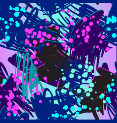 retro doodles and splashes vector image