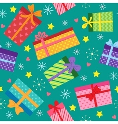 Seamless present pattern vector image vector image