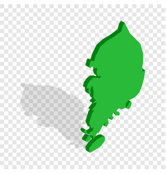 South korea map isometric icon vector
