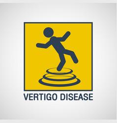 Vertigo disease logo icon design vector