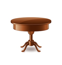 Wooden table isolated on white vector image vector image