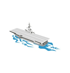 World War Two Aircraft Carrier Retro vector image