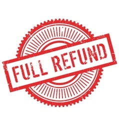 Full refund stamp vector