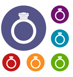 Ring icons set vector