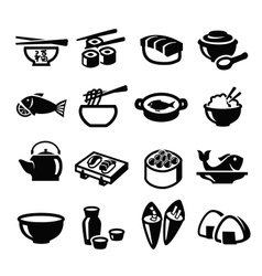 Japan food icons vector