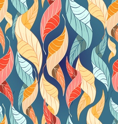 Colorful autumn leaves pattern vector
