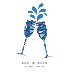 Abstract ice chrystals toasting wine glasses vector