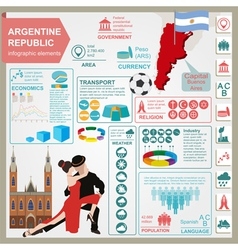 Argentina infographics statistical data sights vector