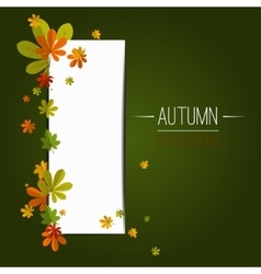 Seasonal background with maple leaves copy space vector