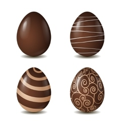 Chocolate eggs collection isolated on white vector
