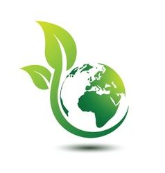 Green earth 2 vector image