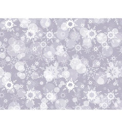 Abstract Christmas background with snowflakes vector image vector image