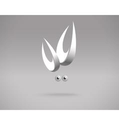 Abstract Crab Logo Design Template vector image