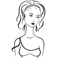 Beautiful female vector image vector image