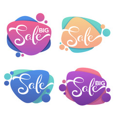 big sale collection of glossy and bright vector image vector image