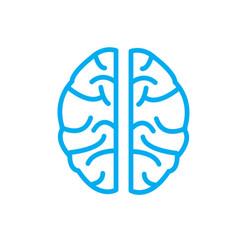 brain icon on white background brain icon sign vector image