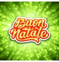 Buon Natale lettering Merry Christmas in italian vector image vector image