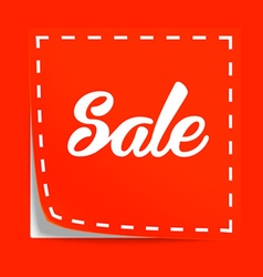 Coupon with Sale tag vector image vector image