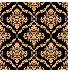 Damask floral pattern with brown colours vector