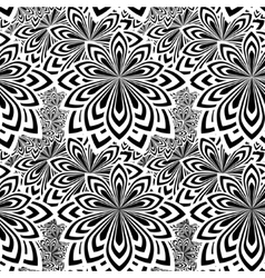 Floral psychedelic seamless pattern vector image vector image