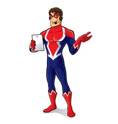 friendly superhero gadget vector image