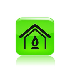 gas home icon vector image vector image