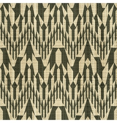 geometric textile print vector image vector image