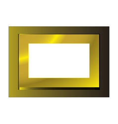 Gold metal frame vector